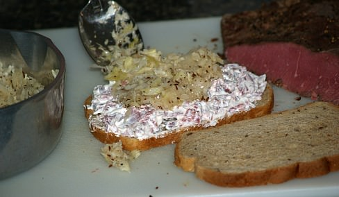 Preparing Sandwiches on Rye Bread
