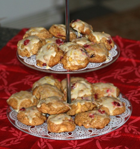Cranberry Apple Cookies with a Sweet Frosting