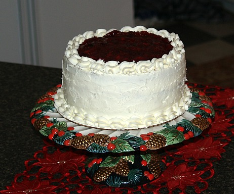 how to make christmas cake recipes like this cranberry filled cake