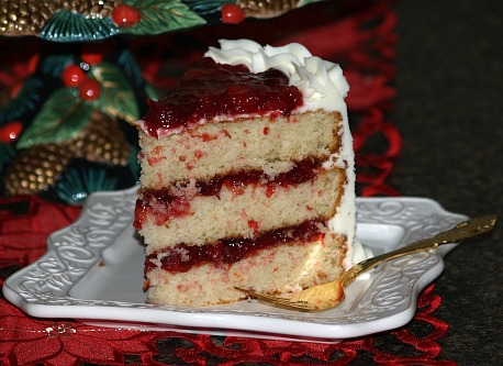 Cranberry Filled Layer Cake