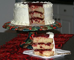 christmas cranberry layered cake