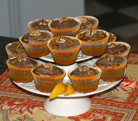 How to Make Cranberry Pumpkin Muffins with an Orange Glaze