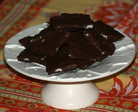 Peppermint Cream Cheese Mints Covered in Chocolate