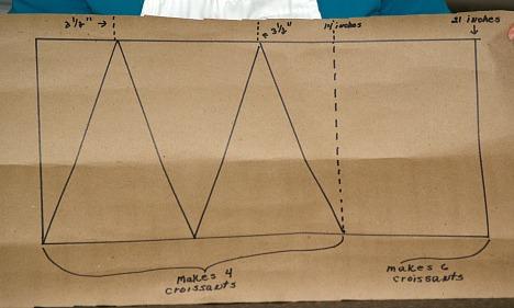 Diagram for Cutting Croissant Rolls