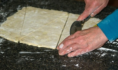 Cutting Large Croissants