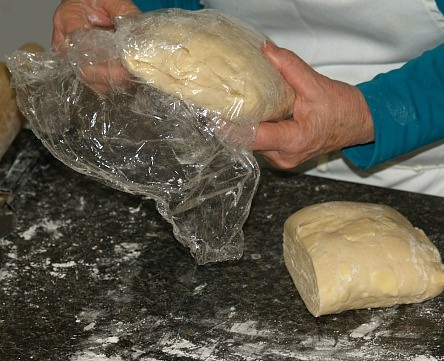 Wrap the Other Half of Dough and Keep Refrigerated