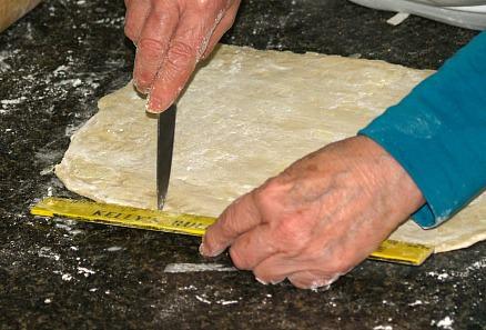 Measuring Dough for Cutting