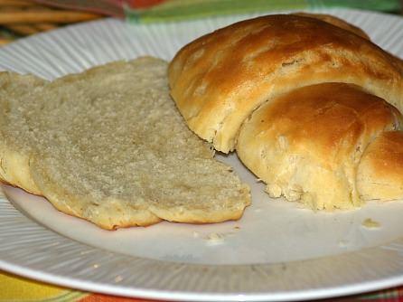 Fresh Baked Croissant Sliced