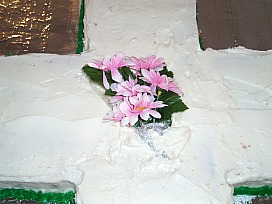 Cross cake for Easter