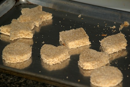 Croutons Cut Into Shapes for Appetizers