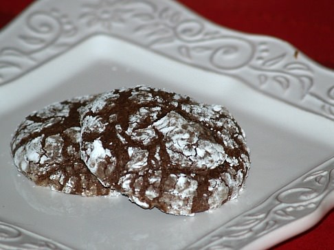 Double Chocolate Crinkles Cookies