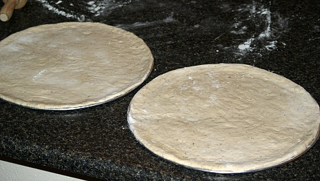 Pizza Dough in the Pan