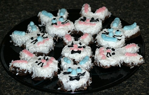 Easter Brownie Bunnies