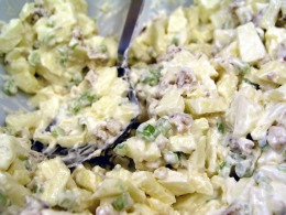 Easy potato salad recipe makes a great tailgate recip