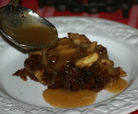 English Apple Dessert Serve with a Delicious Sauce