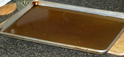 Pour Onto Rimmed Baking Sheet