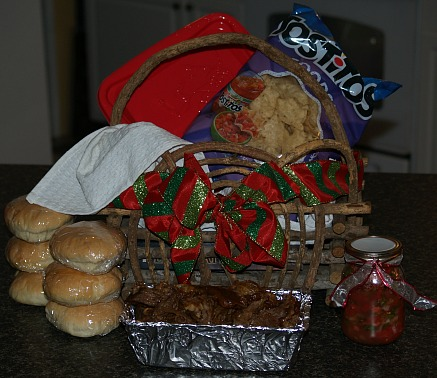 how to make food gift baskets for christmas