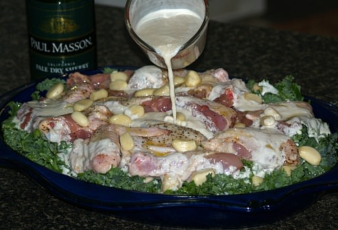 Preparing Forty Cloves of Garlic Chicken