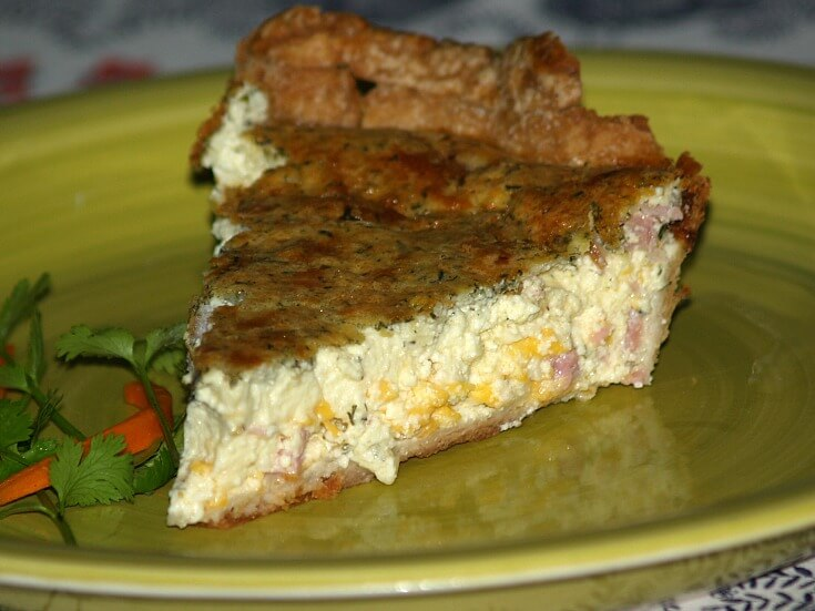 Four Cheeses Herb and Ham Quiche