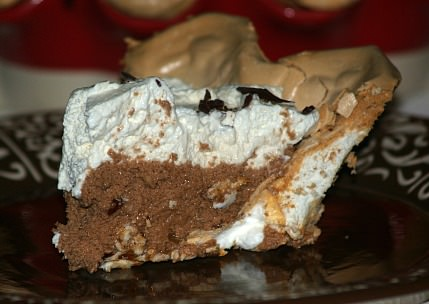 French Chocolate Pie Piece