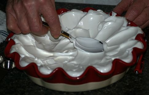 Spread Meringue in Pie Plate