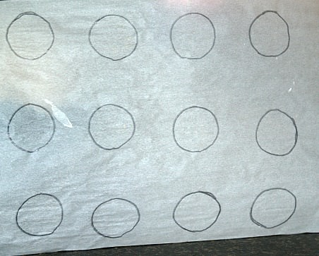 2 Inch Circle on Parchment Paper