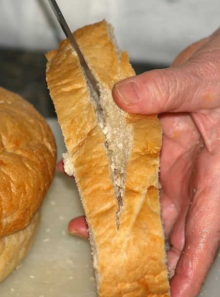 Cutting Bread for French Toast