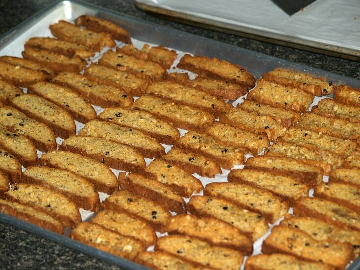 Fresh Baked Fruit and Nut Biscotti Recipe