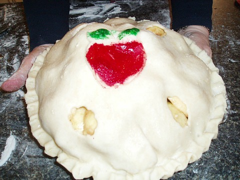Fuji Apple Pie Before Baking