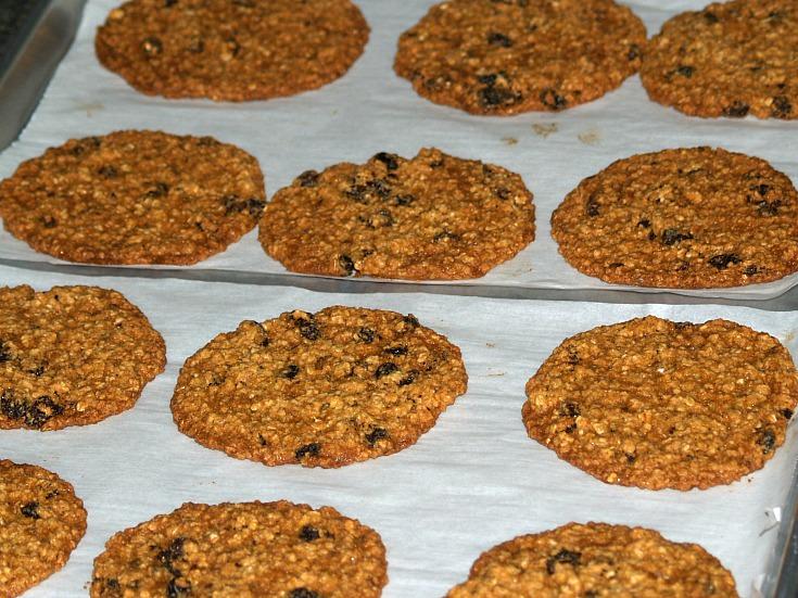 Fresh Baked Giant Oat Cookies