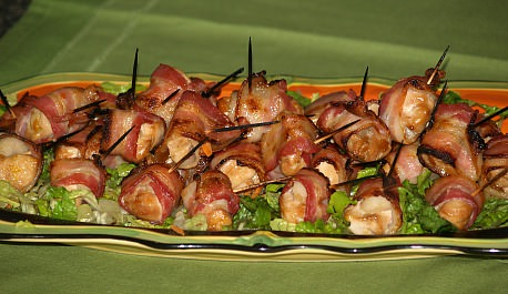 Ginger Chicken Bacon Wraps