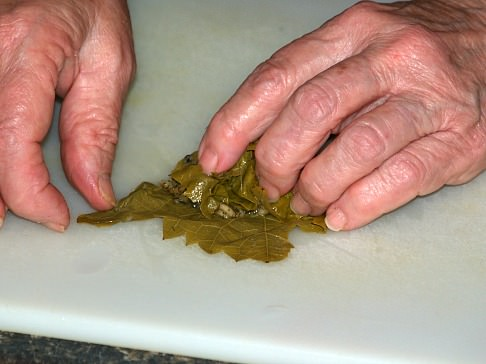 Step Three Stuffing Grape Leaf