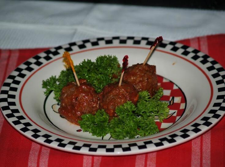 Greek Meatballs Served as an Appetizer