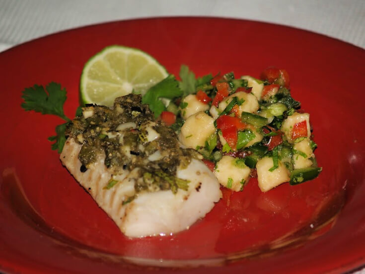 Grilled Fish with Spicy Banana Salsa