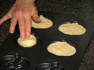 Pressing Dough in Mold