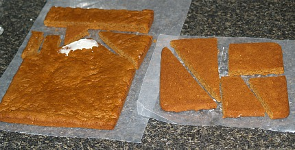 pieces of gingerbread to build halloween house
