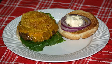 Fried Green Tomato Cheeseburger