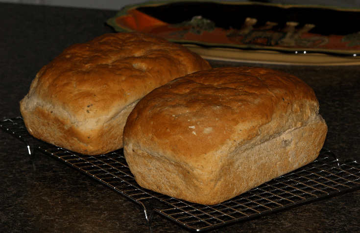 Yogurt Herb Bread Two Loaves