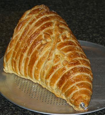 holiday bread recipe shaped as a cornucopia