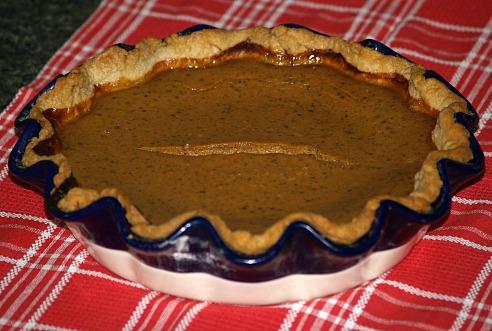 Whole Pumpkin Custard Pie Recipe