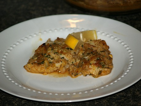 Baked Fish of Sole with Homemade Soy Sauce