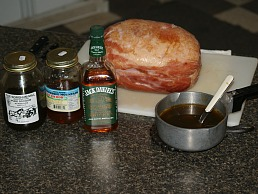 Making the bourbon glaze