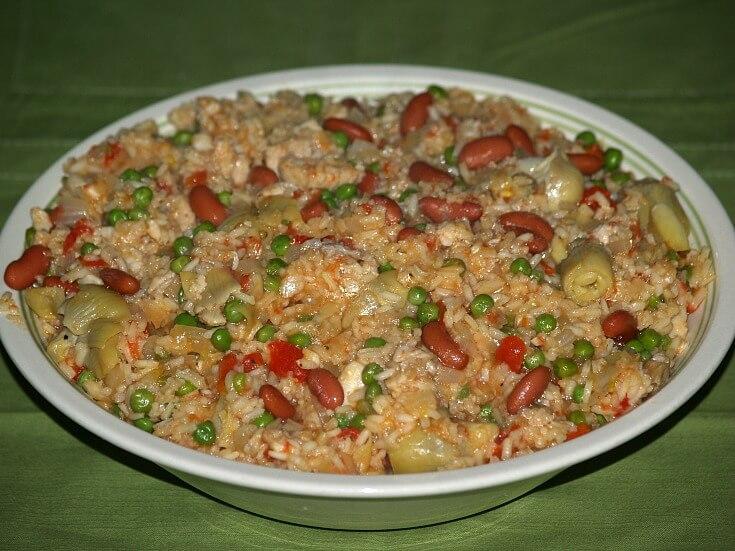 Microwave Flounder Paella Recipe