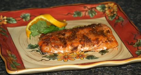 Fresh orange salmon
