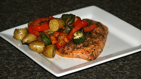 Oven Roasted Salmon with Vegetables