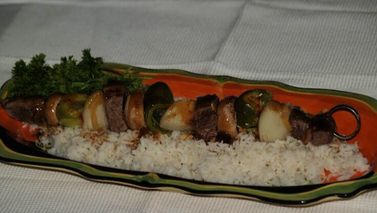 Luau Beef Brochettes