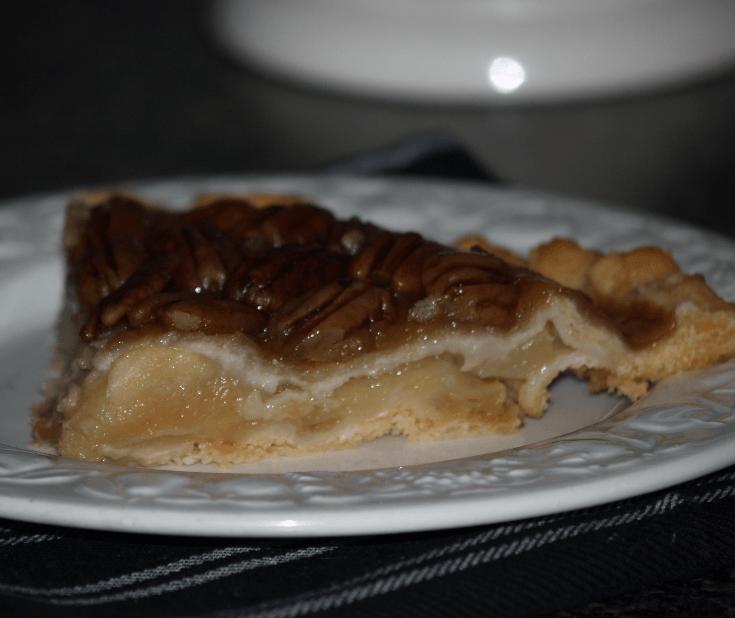 Upside Down Apple Pie Cut Piece