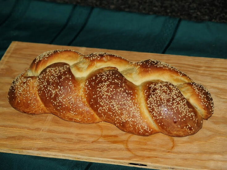 Whole Braided Challah Bread Recipe