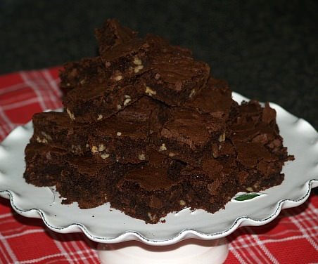 Brownies made from Brownie Mix