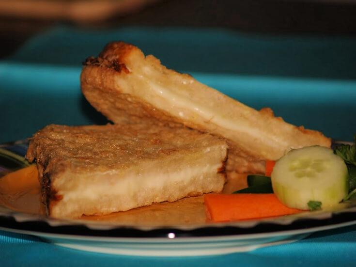 Fried Mozarrella Cheese Sandwiches